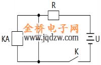 继电器延緩动作电路
