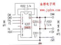 """春兰KFR-50LW/D空调上电后出现""""E1""""保护。整机不工作"""